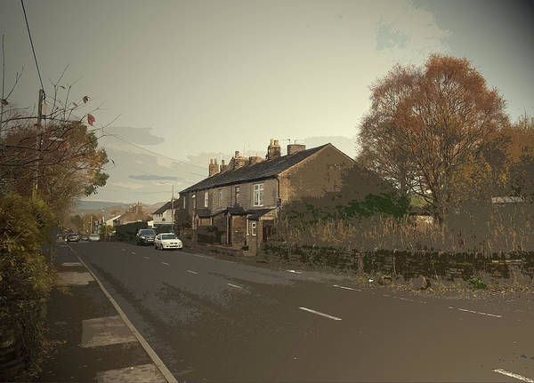 Wall Art - Drawing - Glossop Road In Charlesworth, The A626 Road Seen Here by Litz Collection