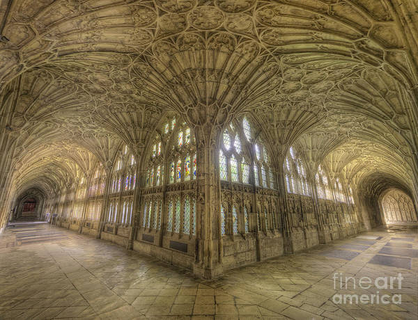 Photograph - Gloucester Cathedral Cloisters by Yhun Suarez