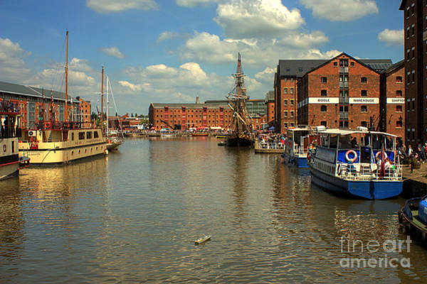 Photograph - Gloucester Historic Docks by Jeremy Hayden