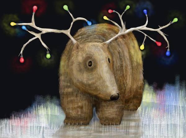 Christmas Digital Art - Glow Me The Way For Xmas by Catherine Swenson