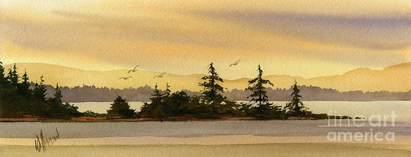 Seacoast Wall Art - Painting - Glow Of Dawn by James Williamson