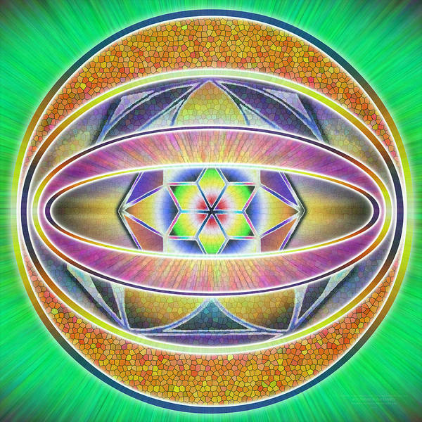 Homeopathy Drawing - Glow Sphere Delta by Derek Gedney
