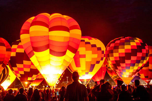 Photograph - Glowing Balloons by Teri Virbickis