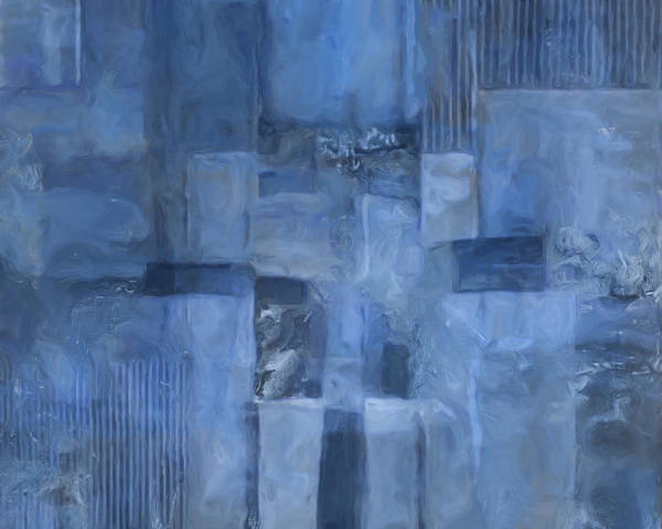 Blending Painting - Glowing Blues by Lee Ann Asch