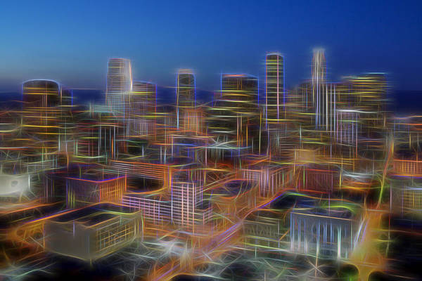 Photograph - Glowing City by Kelley King