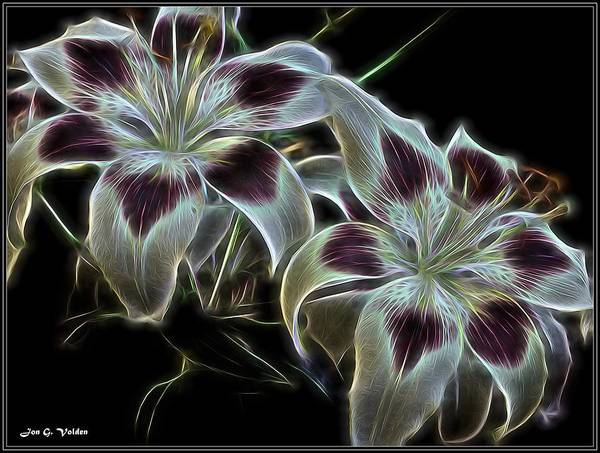 Painting - Glowing Flowers by Jon Volden