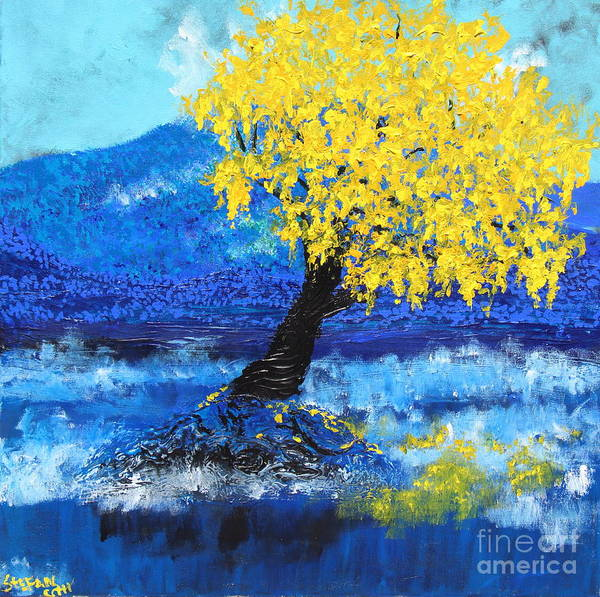 Painting - Glowing In The Blue by Stefan Duncan
