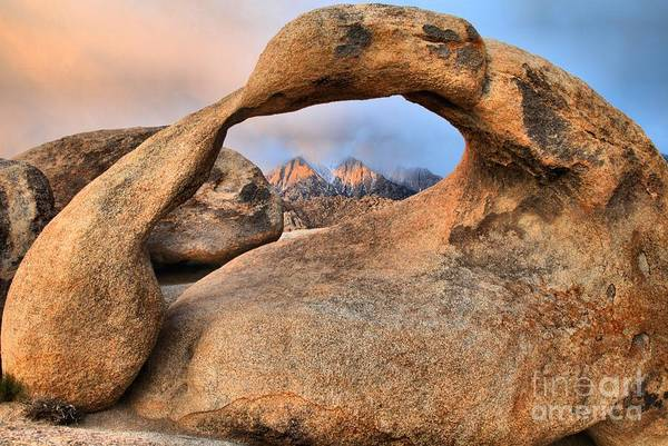 Photograph - Glowing Peaks Through Mobius Arch by Adam Jewell