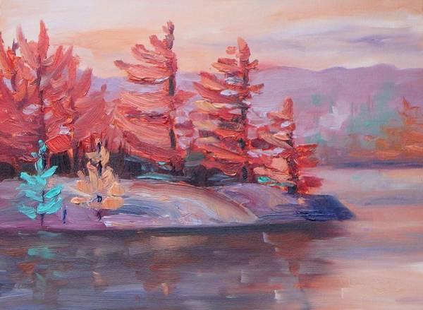 Painting - Glowing Pines by Monica Ironside