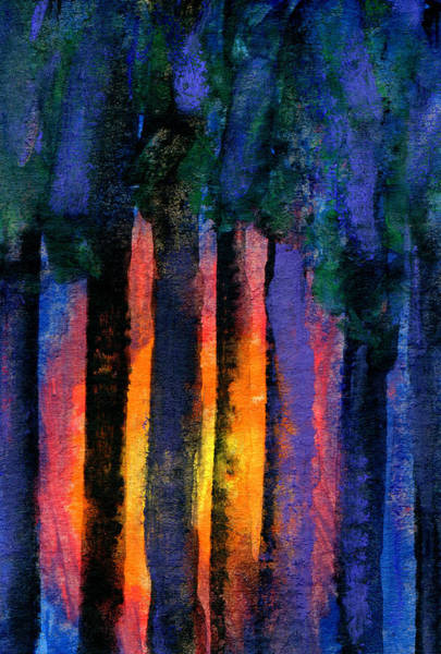 Nuclear Accident Painting - Glowing Wood by R Kyllo