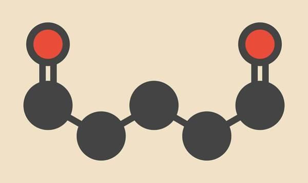 Preservative Wall Art - Photograph - Glutaraldehyde Disinfectant Molecule by Molekuul