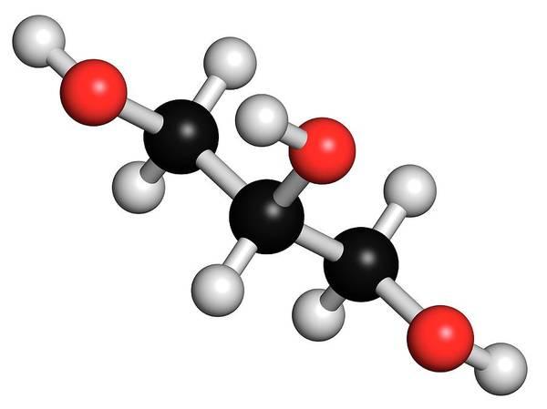 Preservative Wall Art - Photograph - Glycerol Molecule by Molekuul