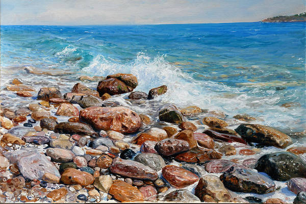 Painting - Glyfada Greece by Sefedin Stafa