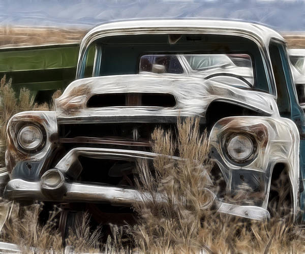 Wrecking Yard Photograph - G M Old Pickup by Wes and Dotty Weber