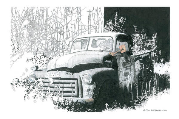 GMC Art Print by Paul Shafranski