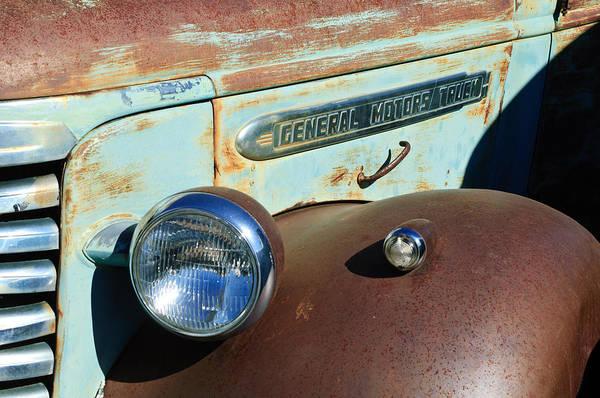 Photograph - Gmc Truck Side Emblem by Jill Reger