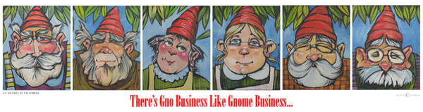 Painting - Gnome Business Poster by Tim Nyberg