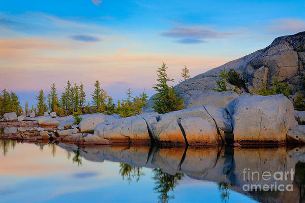 Alpine Lakes Wilderness Photograph - Gnome Tarn Rocks by Inge Johnsson