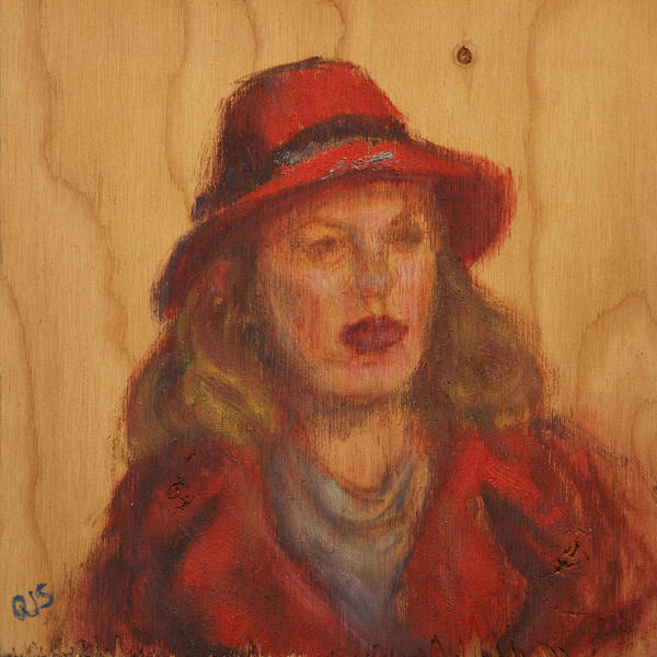 Painting - Go Ahead - Make Her Day - Original Painting On Wood by Quin Sweetman