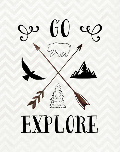 Kids Room Painting - Go Explore by Tara Moss