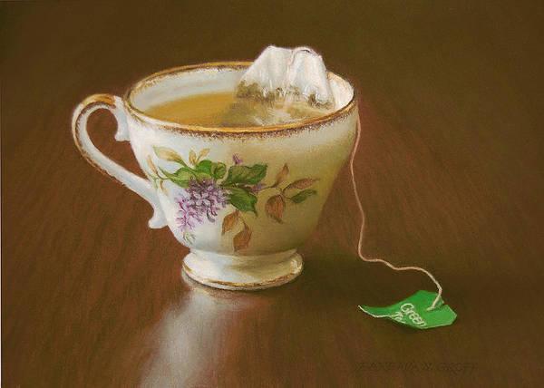 Tea Painting - Go Green Tea by Barbara Groff