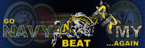 West Point Photograph - Go Navy Beat Army by Mountain Dreams
