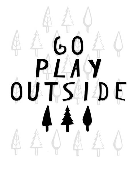 Kids Room Painting - Go Play Outside by Amy Cummings