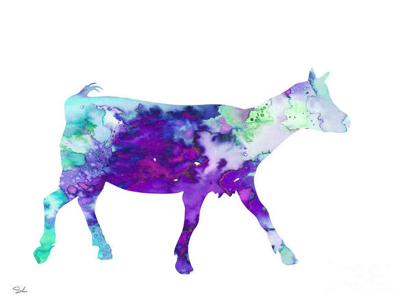 Archival Painting - Goat 2 by Watercolor Girl