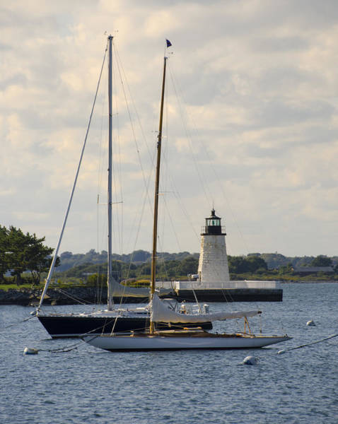 Photograph - Goat Island Lighthouse - Newport Rhode Island by Bill Cannon