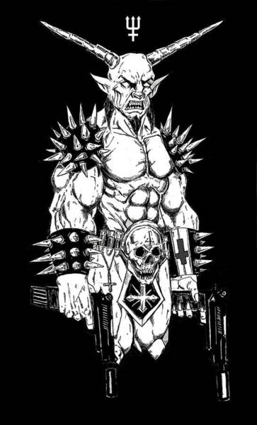 Demonic Drawing - Goatlord Hit List Black by Alaric Barca