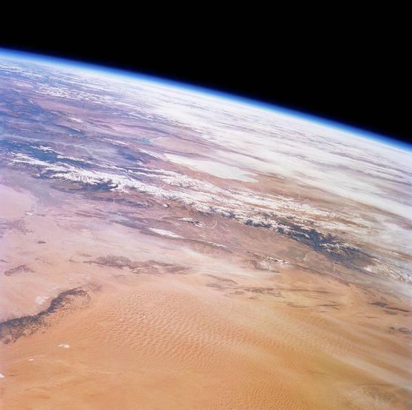 Endeavour Photograph - Gobi Desert And Qilian Mountains by Nasa