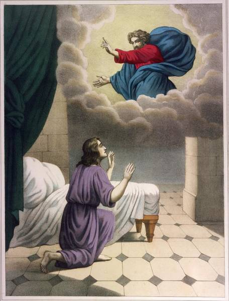 Wall Art - Drawing - God Appears To The Young  Samuel by Mary Evans Picture Library