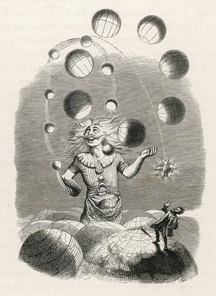 Amuse Drawing - God Depicted As A Juggler,  Amusing by Mary Evans Picture Library