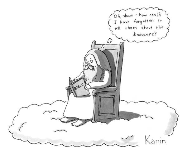 Bible Drawing - God Is Sitting On A Chair In Heaven by Zachary Kanin