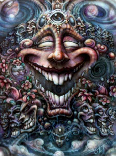 Wall Art - Painting - God Of Laughter by David Bollt