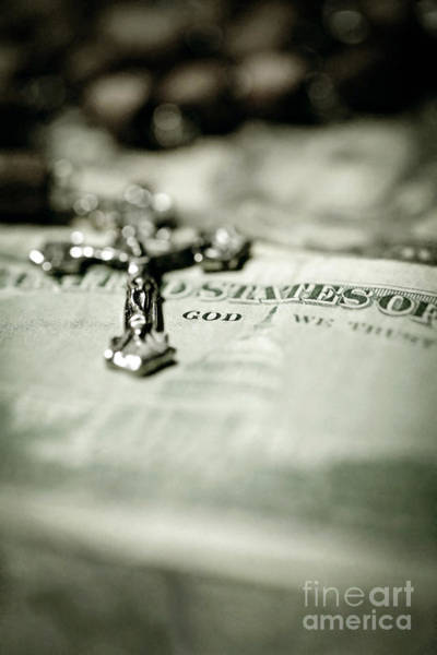 Photograph - God Over Money by Trish Mistric