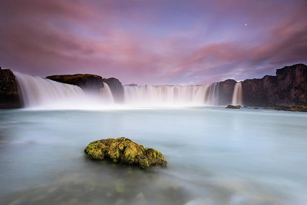 Wall Art - Photograph - Godafoss And The Moon by Luigi Ruoppolo