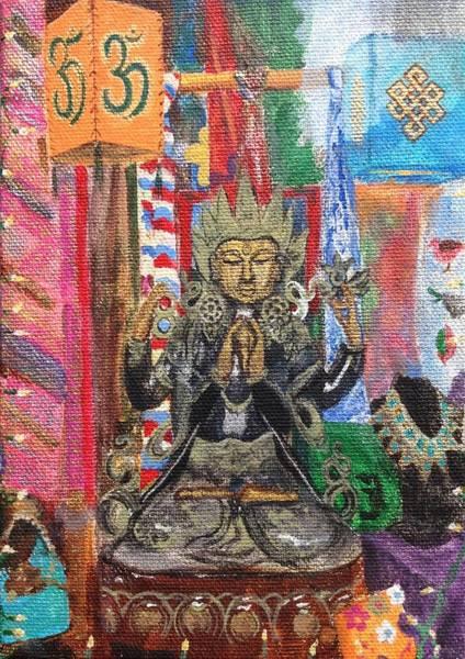 Wall Art - Painting - Buddha Goddess by Chrissey Dittus