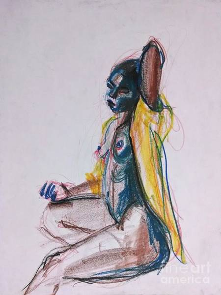 Art Print featuring the drawing Goddess by Gabrielle Wilson-Sealy