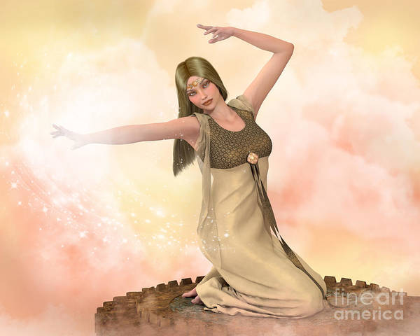 Digital Art - Goddess In Gold by Elle Arden Walby