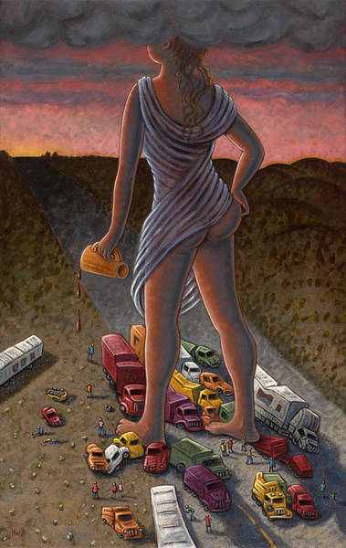 Car Accident Painting - Goddess Of The Dawn by Holly Wood