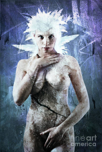Frozen Digital Art - Goddess Of Water by Michael Volpicelli