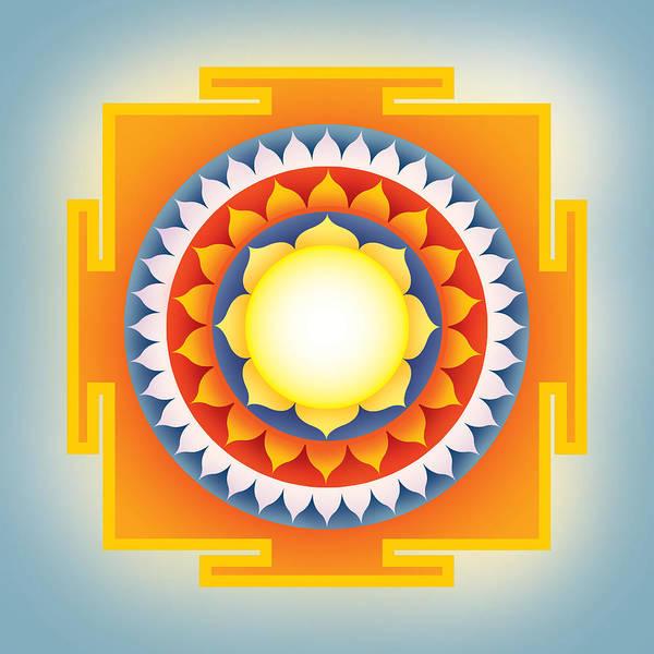 Aspect Digital Art - Goddess Sarvamangala Yantra by Soulscapes - Healing Art