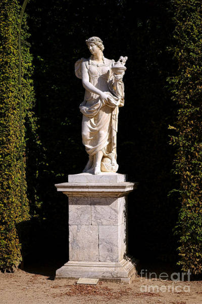 Photograph - Asia Statue At Versailles by Olivier Le Queinec