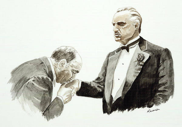Strangling Painting - Godfather by Timothy Ramos