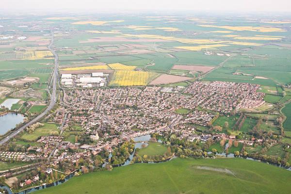 Road Map Photograph - Godmanchester by Tom Gowanlock
