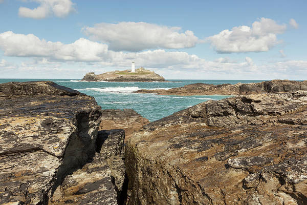 Ives Photograph - Godrevy Lighthouse In Cornwall, England by Nick Cable