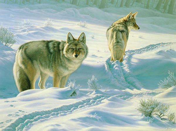 Yellowstone Wall Art - Painting - God's Dogs by Paul Krapf