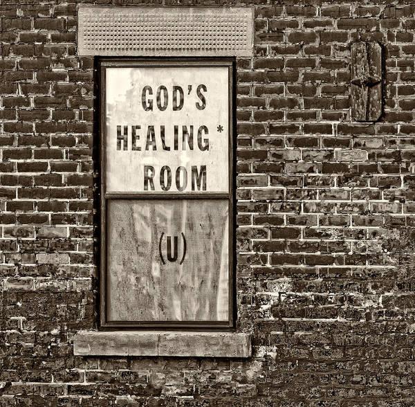 Bolton Photograph - God's Healing Room Monochrome by Steve Harrington