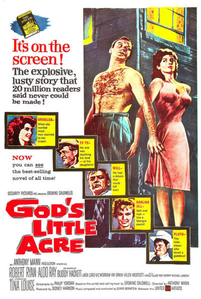 Hackett Photograph - Gods Little Acre, Us Poster, Top by Everett
